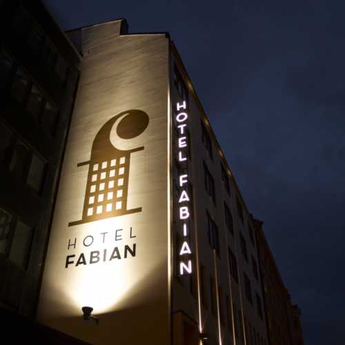 Stylish and popular Hotel Fabian is located close to Market Square
